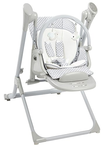 Primo 2-in-1 Smart Voyager Convertible Infant Swing and High Chair with Bluetooth, Grey 2in 1 Convertible High Chair