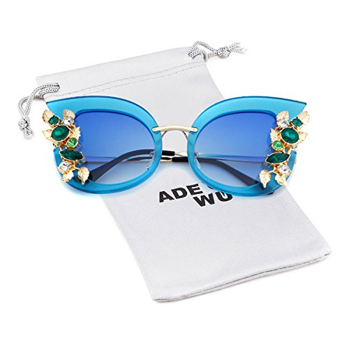 e sunglasses flower Rhinestone Jewel Vintage Clout Goggles ()
