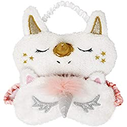 Onshine Unicorn Sleeping Mask 2Pack Cute Unicorn Horn Soft Plush Blindfold Eye Cover Women Girls