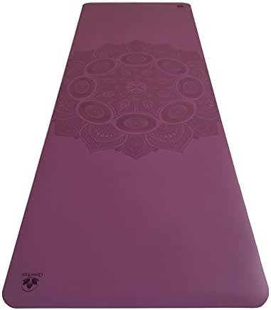 Non-Slip Yoga Mat - Stays Fresh And Odor-Free - Grippy, Cushy And Spacious - Made From Eco Friendly Rubber - Great For Hot Yoga, Pilates and Exercise - Includes Carry Bag With Strap - From Clever Yoga