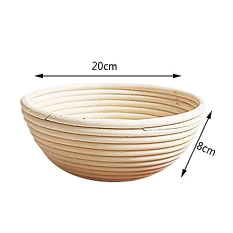 DaoRier Natural Rattan Fermenting Basket Bread Dough Round Bread Shape 20 8cm 20 8cm
