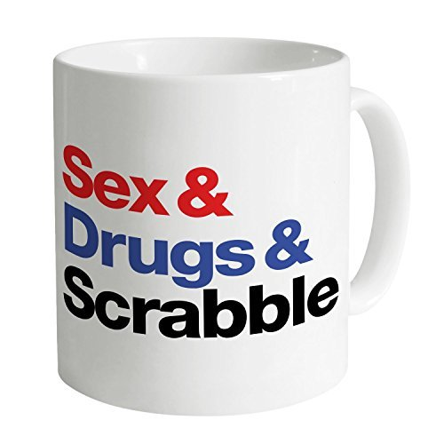 Sex and Drugs and Scrabble Mug by OneMtoss