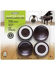 Slipstick CB6 45mm (1-3/4-Inch) Wheel-Locking Floor Protector Gripper Cups (Set of 4)
