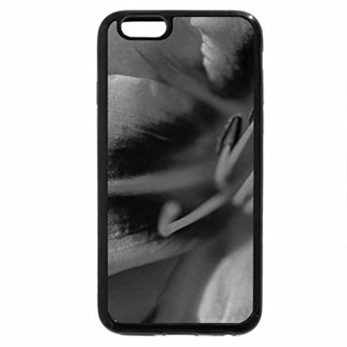 iPhone 6S Plus Case, iPhone 6 Plus Case (Black & White) - orange petal