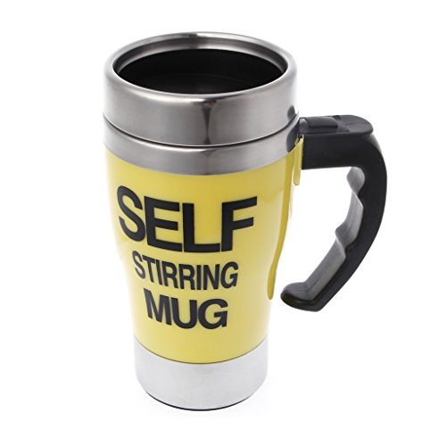 Self Stirring Coffee Mug(Yellow) - 7