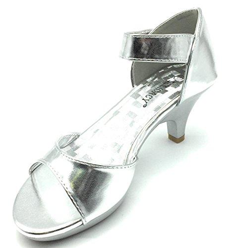 Dress Sandal Silver Strappy Heel Low Angel Shoes Womens Delicacy 62 Rhinestone qtx4XwpwYv