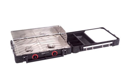 Coleman Exponent Rendezvous 2-Burner Propane Stove, Outdoor Stuffs