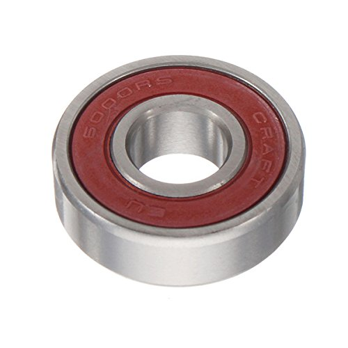 6000 2RS Ball Bearing 10x26x8mm Red Sealed Rubber Shields Deep Groove Ball Bearing