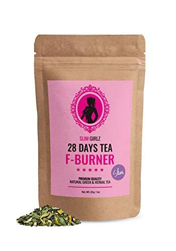 Slim Girlz Slim Tea 28 Days | Hoja suelta 85g | Te Adelgazante Para Mujeres | Te de Dieta y Para Perdida de Grasa | Suplemento Dietetico Natural Para Adelgazar | Para una Dieta Mas Exitosa