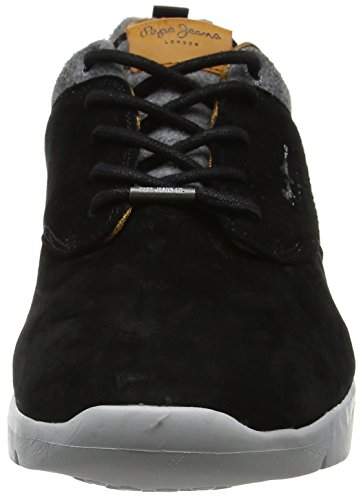Pepe Black Noir Jeans Homme Basses Stag Suede Sneakers Jayden qO7Arqvw