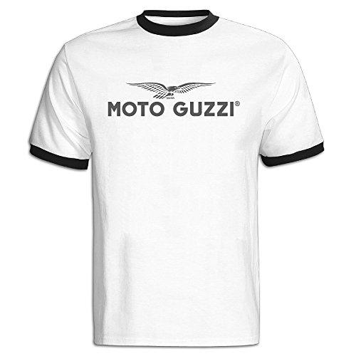 Men's Guzzi Motorcycle Logo Color Block Tshirts (Halloween Hangover Funny)