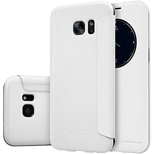 S7 Edge Case, JUN-Q Galaxy S7 Edge Window Case,[Big Window] Luxury PU Case View Flip Scrub Cover for Samsung Galaxy Sales