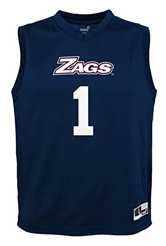 NCAA by Outerstuff NCAA Gonzaga Bulldogs Youth boys Chase Basketball Jersey, Navy, Youth Large(14-16)