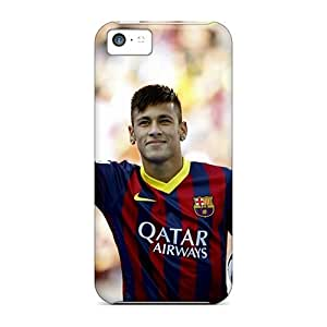 Scratch Protection Cell-phone Hard Covers For Apple Iphone 5c With Allow Personal Design High-definition Fc Barcelona Neymar Skin JonathanMaedel