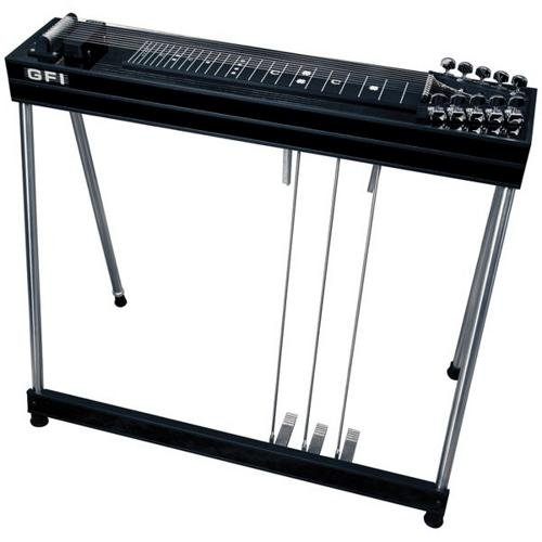 GFI Musical Instruments S-10 SM Pedal Steel Guitar with Hardshell Case (3 pedals, 2 knee levers) by GFI Musical Instruments
