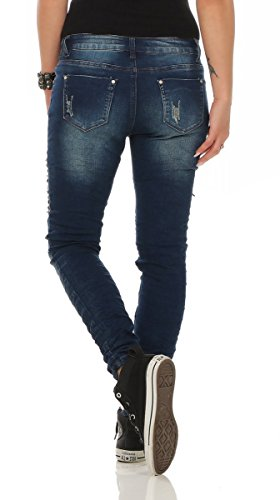 38 11401 blau Jeans turquoise turquoise Femme Fashion4Young xvnI6OqUw