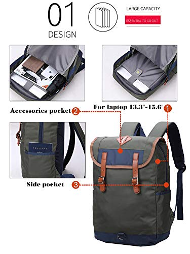 Daypack Vintage Laptop Backpack for Women Men,School College Backpack Fashion Backpack Notebook