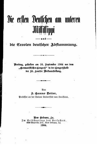 Download Die ersten Deutschen am unteren Mississippi und die Creolen deutscher abstammung (German Edition) PDF