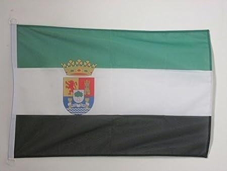 AZ FLAG Bandera de Extremadura 90x60cm Uso Exterior - Bandera ...