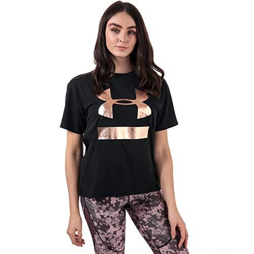 Under Armour Women's Big Logo Girlfriend Crew Neck Tshirt 12-14 Black