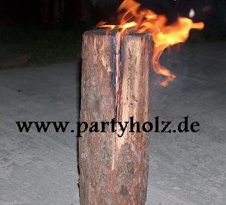 partyholz.de 2 Stü ck Schwedenfeuer/Baumfackel XXL (90cm) www.partyholz.de