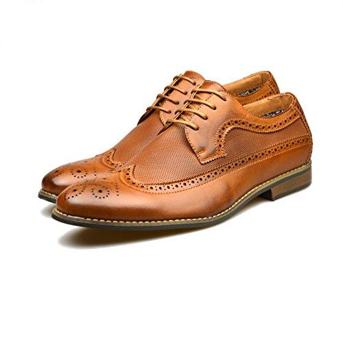 braun offiziellen 6 7 Gr 8 Schuhe Smart Herren Leder 2 9 Fashion Brown 11 10 dIq0x144