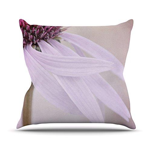 Kess InHouse Iris Lehnhardt Windswept Lavender Floral Outdoor Throw Pillow, 18