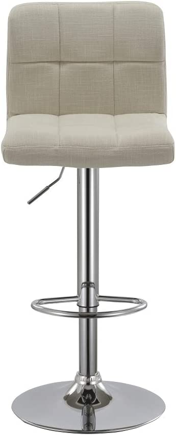 Duhome Bar Stools Set of 2 Cream Swivel Barstools with Backrest Height Adjustable Faux Leather or Fabric Colour Selection 451Y