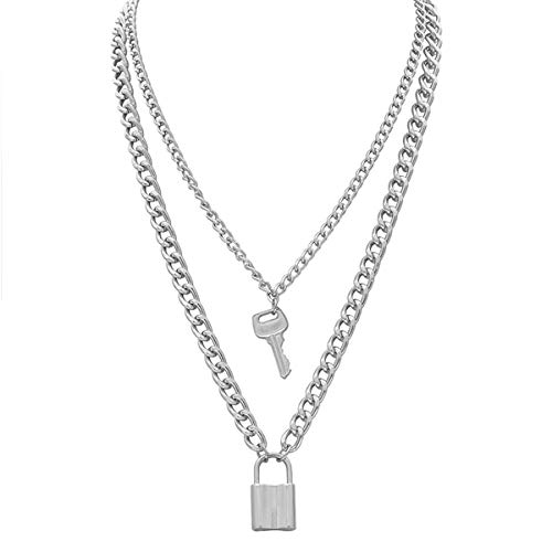 Salircon Layered Necklace Lock