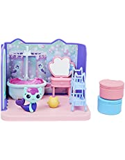Gabby's Dollhouse, Primp and Pamper Bathroom with MerCat Figure, 3 Accessories, 3 Furniture and 2 Deliveries, Kids Toys for Ages 3 and up