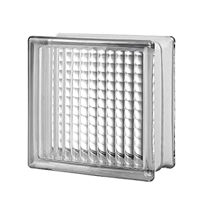 Seves Glass Block 12 x12 x 4 CrossRib Glass Block