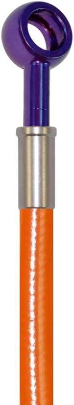 Orange Hose /& Stainless Purple Banjos Pro Braking PBK2832-ORA-PUR Front//Rear Braided Brake Line