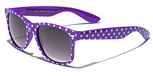 Polka Dot Retro Fashion Sunglasses - 100% UV400 - ()