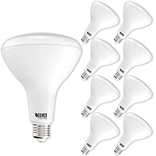 Sunco Lighting 8 Pack BR40 LED Bulb, 17W=100W, Dimmable, 4000K Cool White, Indoor Flood Light for Cans - UL & Energy Star