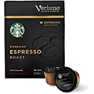 Starbucks Verismo Espresso Roast Espresso Single Serve Verismo Pods, Dark Roast, 6 boxes of 12 (72 total Verismo pods)