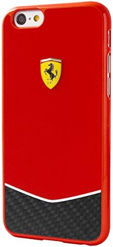 Ferrari FECBBHCP6LRE Scuderia glänzende harte Schutzhülle  mit Echt-Carbon Plattenboden für Apple iPhone 6 Plus/6S Plus Red