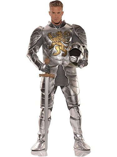 Knight in Shining Armor Mens Costume, Standard