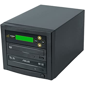 Acumen Disc CD DVD Disc Copier Duplicator System with Asus 24x DVD-Burner Writer Optical Drive D01-BAS