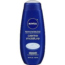 NIVEA Creme Moisture Moisturizing Body Wash 16.9 Fluid Ounce (Pack of 3)
