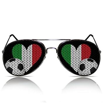 WM Fanbrille Italienbrille WM Fanartikel Italienflagge Sonnenbrille Party Spass Nerd Porno Atzenbrille WM Brasilien Fanartikel Partygag Funbrille Fasching Karneval WM Herz Italien Fahne Flagge WM Herz Italien mygafas.com