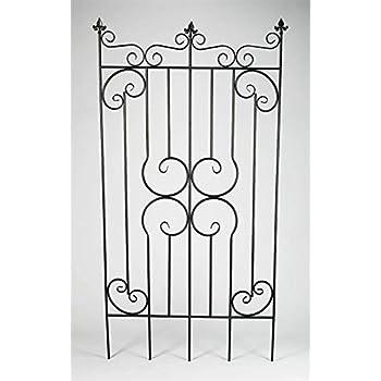 Amazon com : AA Importing Decorative Metal Garden Fence Gate in Dark