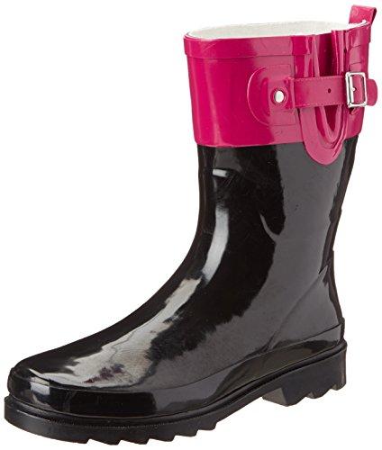 Western Chief Womens' Waterproof Printed Mid Height Rain Boot, Pink, 9 M US