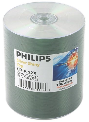 600 Philips 52x CD-R 80min 700MB Shiny Silver by Philips