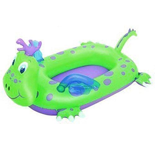 BESTWAY barco del dragón inflable flotador natación niño bebé paseo en balsa inflable juguete de la piscina tumbona, verde: Amazon.es: Jardín