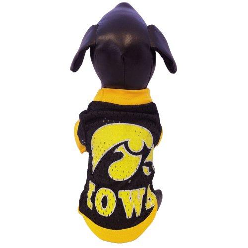 NCAA Iowa Hawkeyes Athletic Mesh Dog Jersey (Team Color, Large)
