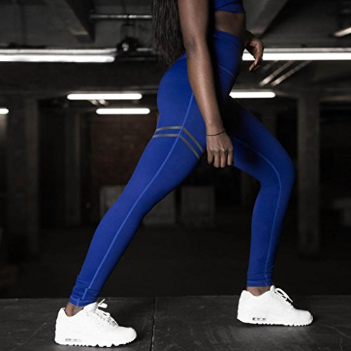 Long Yoga XL Bleu Longueur Yoga Pantalon Toute Gym Leggings Fitness OHQ Leggings Exercice Femmes Skinny Pantalon La Crayon Ladies Sports pCq4PBw4