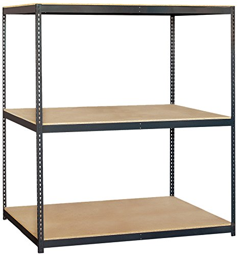 Solid Shelving Unit (Salsbury Industries Solid Shelving Unit, 72-Inch Wide by 84-Inch High by 36-Inch Deep)