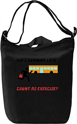 Running late Borsa Giornaliera Canvas Canvas Day Bag| 100% Premium Cotton Canvas| DTG Printing|