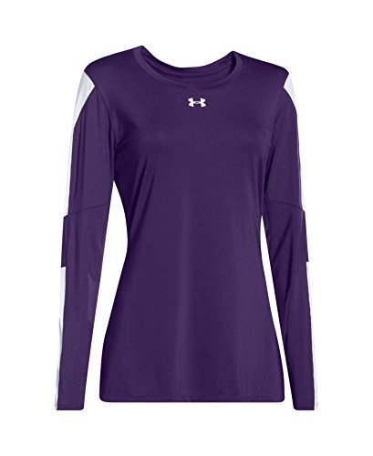 Under Armour Womens UA Block Party Long Sleeve Jersey Purple/ White/ White