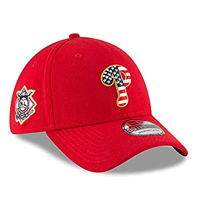 New Era Authentic, NWT, Philadelphia Phillies 4th July Stars & Stripes Flex Fit 39Thirty Hat Red
